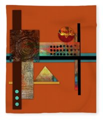 Collage Abstract 8 Fleece Blanket