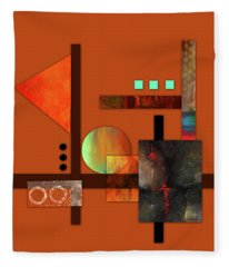 Collage Abstract 9 Fleece Blanket