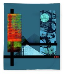 Collage Landscape 1 Fleece Blanket