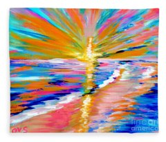 Collection Art For Health And Life. Painting 5. Energy  Of  Life Fleece Blanket
