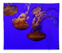 Collection Of Jellyfish Fleece Blanket