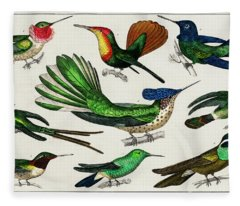 Collection Of Various Birds Fleece Blanket