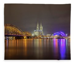 Cologne Cathedral Over The Rhine Fleece Blanket