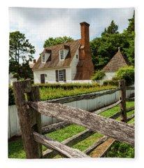 Colonial America Home Fleece Blanket