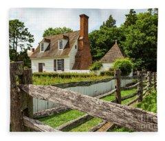 Colonial America House Fleece Blanket
