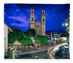 Colonial Town Of Taxco, Mexico Fleece Blanket