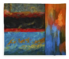 Color Abstraction Li  Fleece Blanket