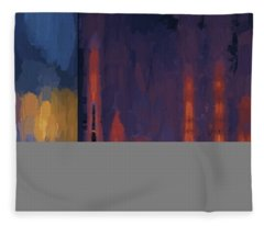 Color Abstraction Lii Fleece Blanket