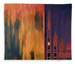 Color Abstraction Liv Fleece Blanket