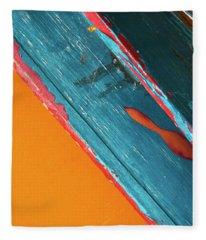 Color Abstraction Lxii Sq Fleece Blanket