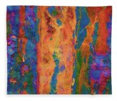 Color Abstraction Lxvi Fleece Blanket