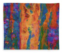 Color Abstraction Lxvi Fleece Blanket