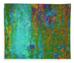 Color Abstraction Lxvii Fleece Blanket