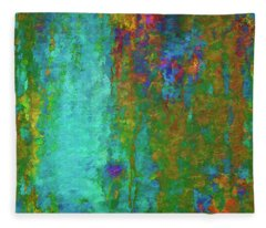 Color Abstraction Lxvii Fleece Blanket