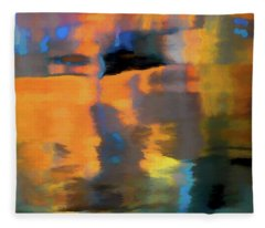Color Abstraction Lxxii Fleece Blanket