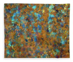 Color Abstraction Lxxiv Fleece Blanket