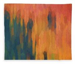 Color Abstraction Xlix Fleece Blanket