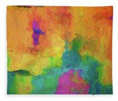 Color Abstraction Xxxiv Fleece Blanket