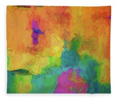 Color Abstraction Xxxiv Fleece Blanket