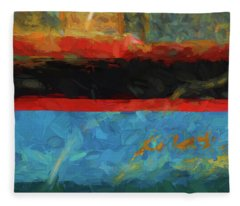 Color Abstraction Xxxix Fleece Blanket