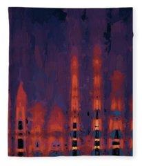 Color Abstraction Xxxviii Fleece Blanket