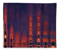 Color Abstraction Xxxviii Fleece Blanket
