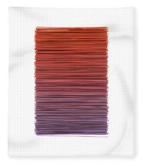 Color And Lines 3 Fleece Blanket