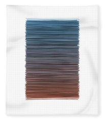 Color And Lines 4 Fleece Blanket