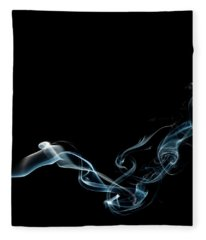 Color And Smoke Vi Fleece Blanket