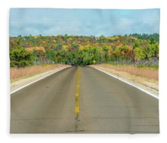 Color At Roads End Fleece Blanket