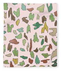 Color Pattern 3 Fleece Blanket