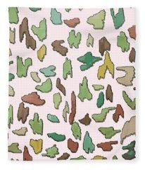 Color Pattern 3d Fleece Blanket