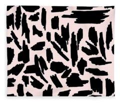 Color Pattern 5 Black Fleece Blanket