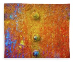 Color Rivets Fleece Blanket