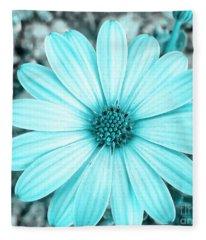 Color Trend Blue Blossom Fleece Blanket