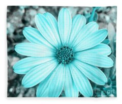 Color Trend Blue Blossom Fleece Blanket