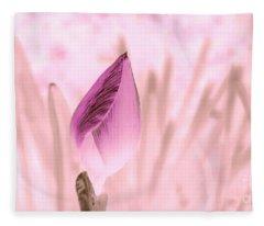 Color Trend Flower Bud Fleece Blanket