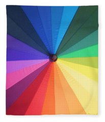 Color Wheel Fleece Blanket