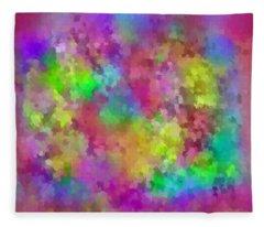 Color Wheel  Fleece Blanket