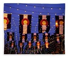 Colorado Flags On Larimer Square Denver Fleece Blanket