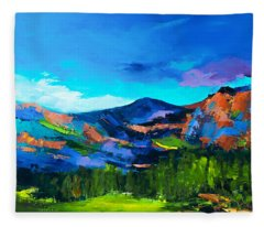 Colorado Hills Fleece Blanket