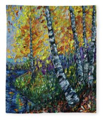 Glimpses Of Colorado Fall Colors Fleece Blanket
