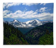 Colorado Rocky Mountains Fleece Blanket