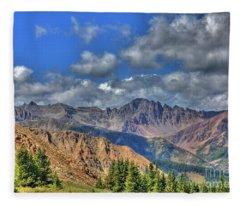 Colorado Rocky Mountains Fleece Blanket
