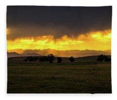 Colorado Sunset Fleece Blanket