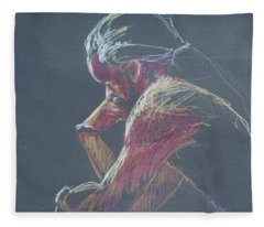 Colored Pencil Sketch Fleece Blanket