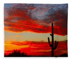 Colorful Arizona Sunset Fleece Blanket