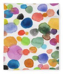 Colorful Bubbles Fleece Blanket