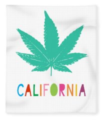 Colorful California Cannabis- Art By Linda Woods Fleece Blanket