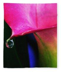 Colorful Calla Fleece Blanket